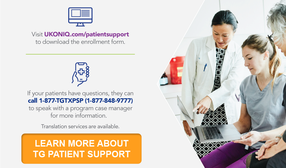Visit UKONIQ.com/patientsupport to download the enrollment form