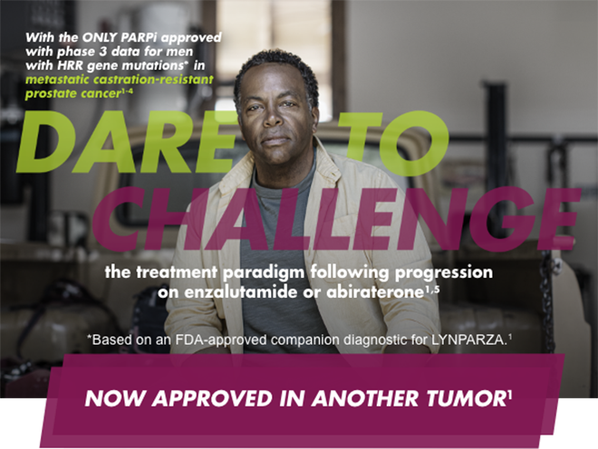With the ONLY PARPi approved with phase 3 data for men with HRR gene mutations* in metastatic castration-resistant prostate cancer1-4